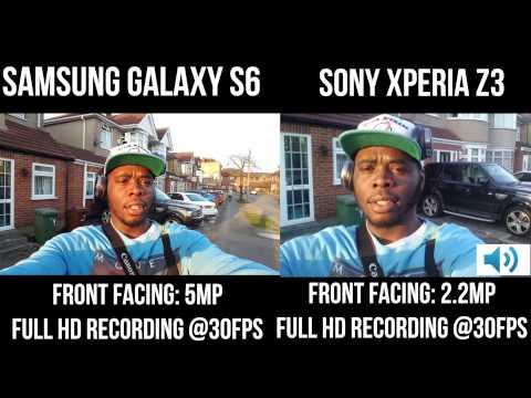 Samsung Galaxy S6 vs Sony Xperia Z3: Front Facing Camera