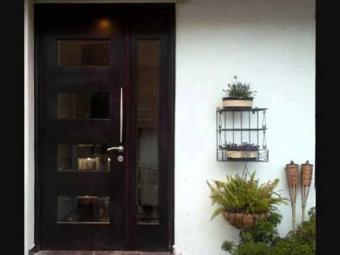 Puertas de madera para entrada principal youtube for Puertas de entrada principal