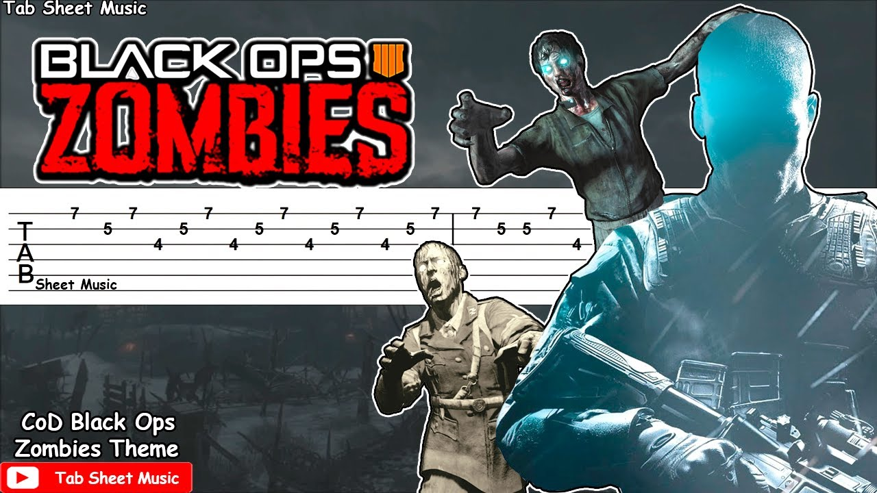 Call Of Duty Black Ops Zombies Theme Damned Guitar Tutorial