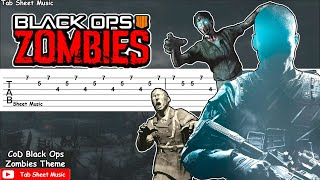 Call of Duty Black Ops - Zombies Theme (Damned) Guitar Tutorial