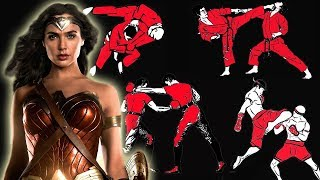 How many fighting styles does Wonder Woman know in Justice League?