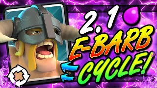 FASTEST ELITE BARBARIAN DECK EVER!! 2.1 CYCLE!! THIS IS INSANE!!