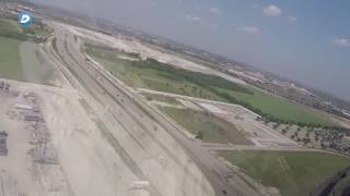 Raw: Take a ride over The Star in Cowboys' new helicopter