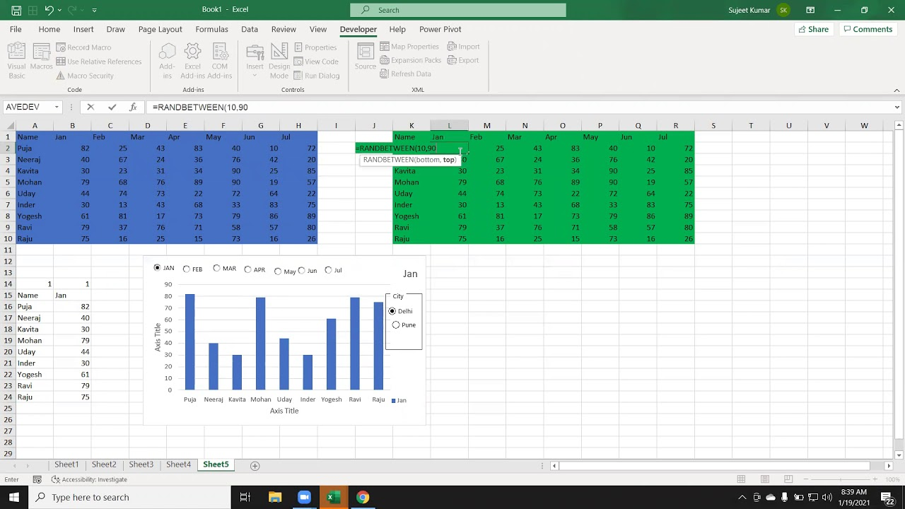 Top 10 Amazing Chart for Excel Dashboard Training