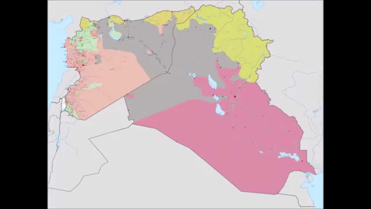Syria Iraq Conflict Timelapse
