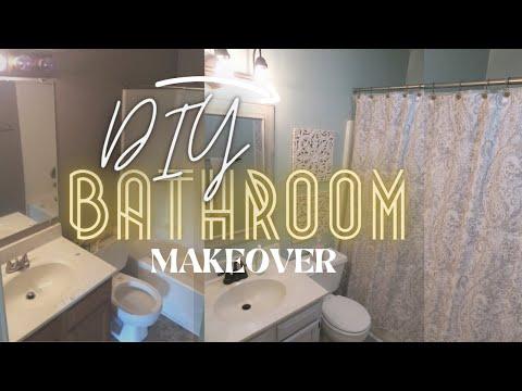 diy-small-bathroom-makeover-on-a-budget-/-cheap-bathroom-remodel-:-renter-friendly-ideas