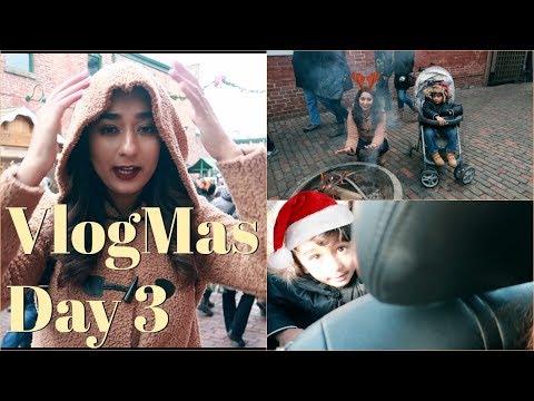Toronto Christmas Market Family Fun day    Vlogmas Day 3    Brownbeautysimor