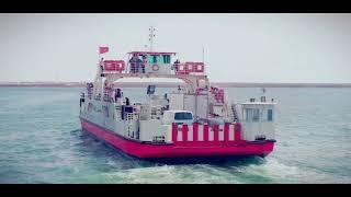 L'arrivée â l'ile tunisienne de Djerba à travers le bac