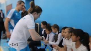 Карина Горичева провела открытый урок для талдыкорганских учеников