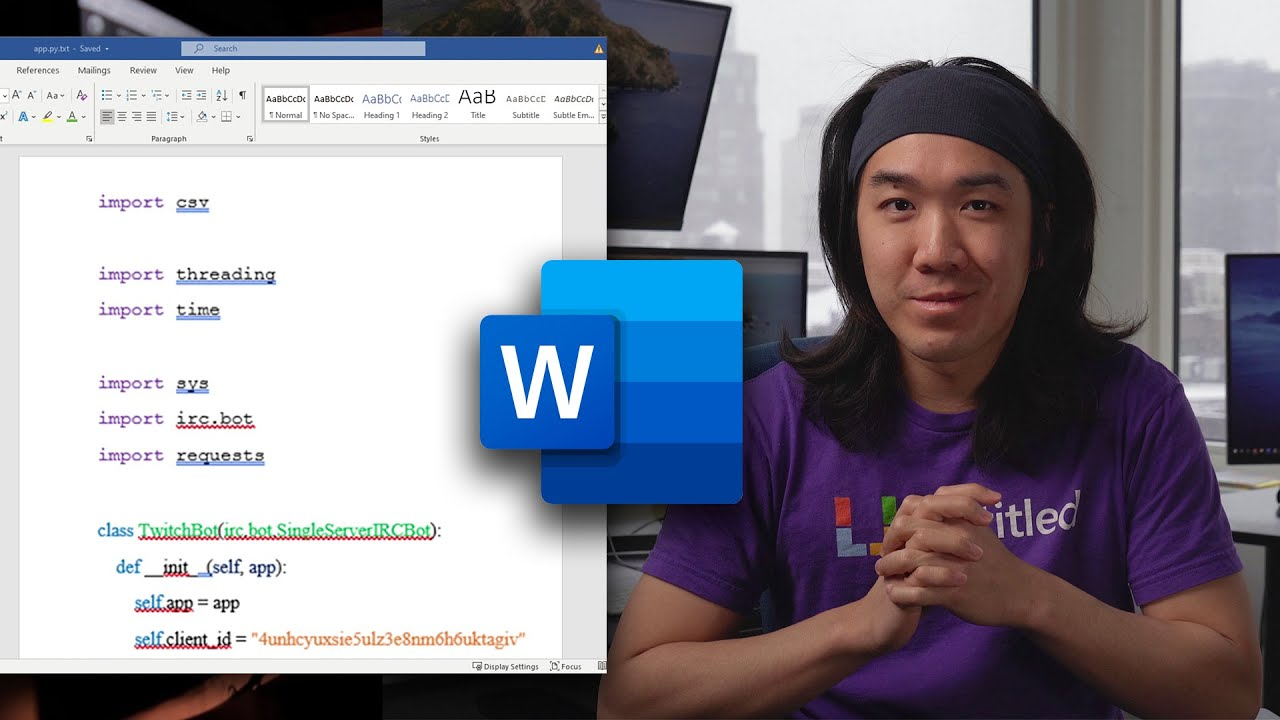 Why Microsoft Word is the best IDE for programming