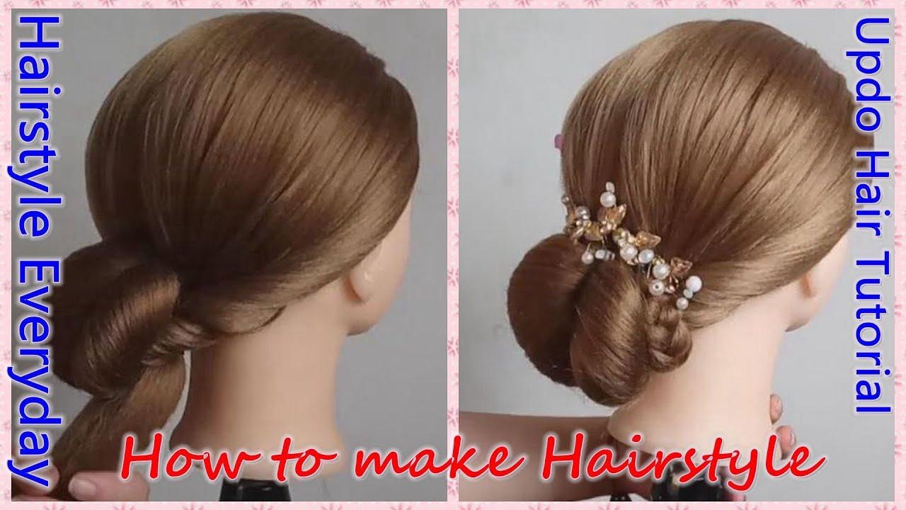 elegant heart-shaped bun with thin hair, ballroom dancing updo tutorial,wedding braided hairstyle