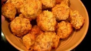 Cheesy Sausage Balls, A Simple Snack That Is Great For Dipping Or On It's Own