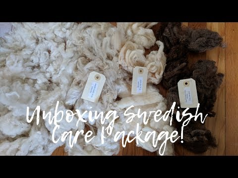 Unboxing Swedish Wool Care Package