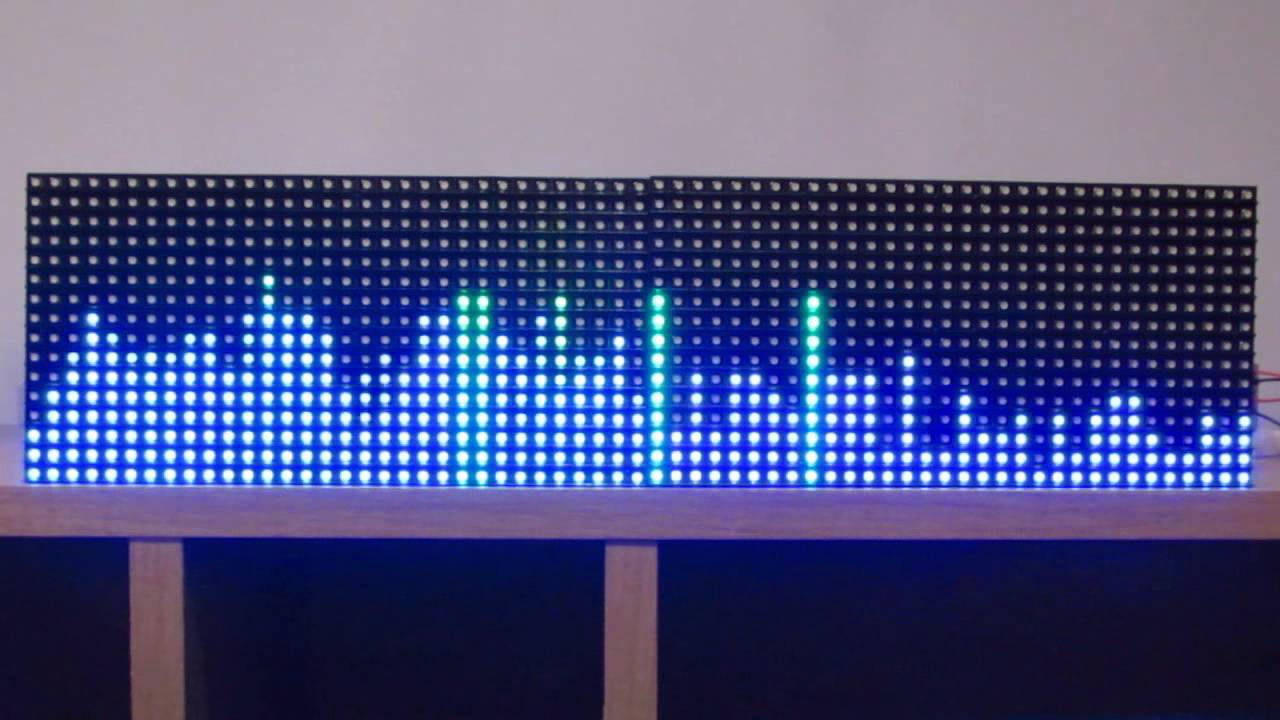 Rgb matrix arduino spectrum analyzer band youtube