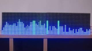 16 x 64 rgb matrix arduino spectrum analyzer 64 band