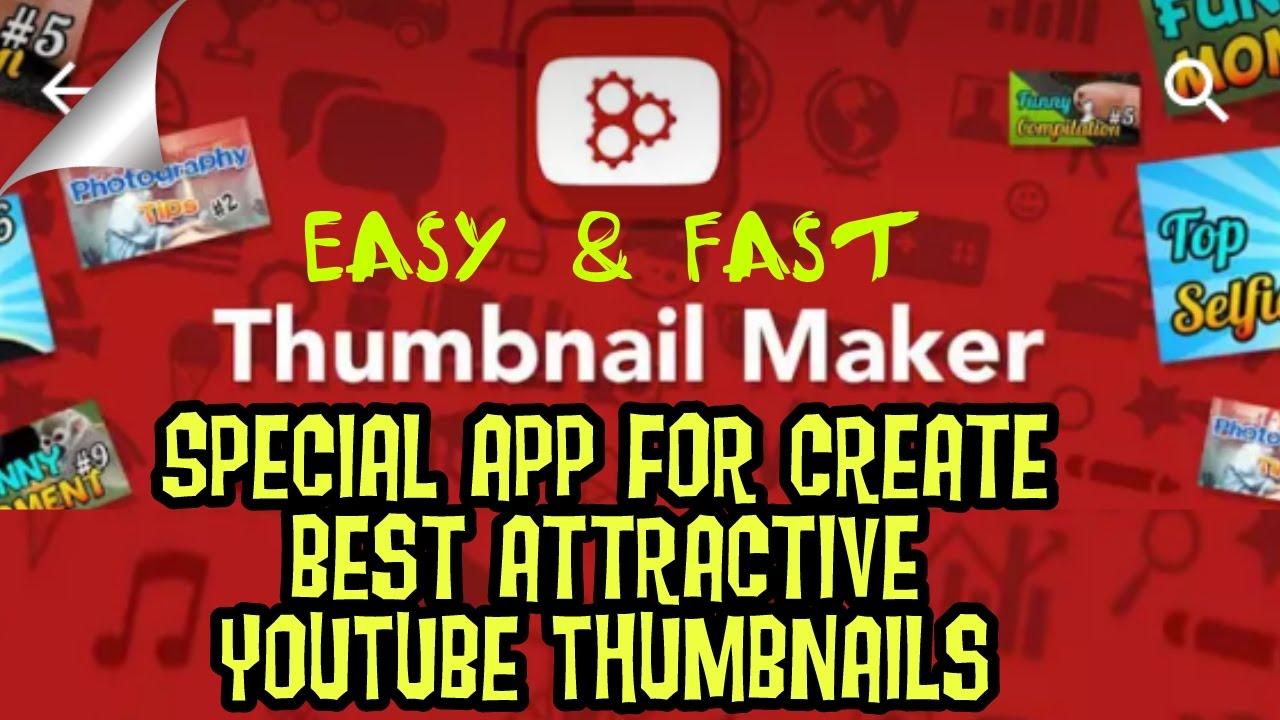 Best and Easy YT thumbnail Maker App