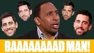 The best of Stephen A.'s Aaron Rodgers rants: 'He's a baaaad man!'   First Take