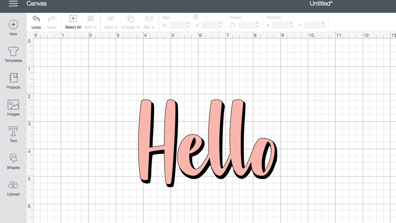 How to create a offset text shadow in Cricut Design Space