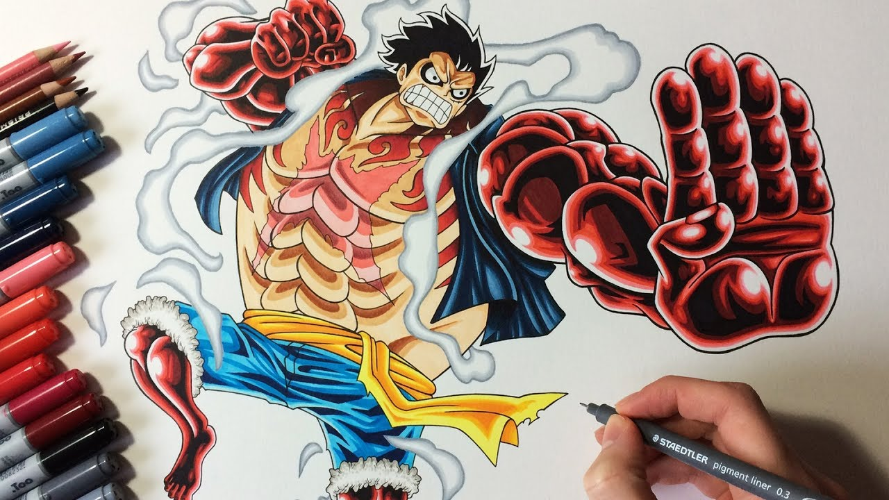 Drawing Monkey D Luffy Gear 4