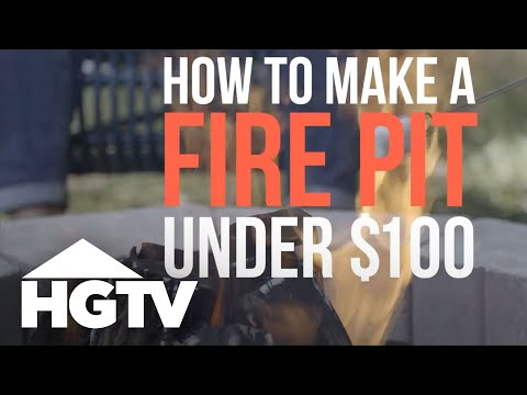 How to Build a Fire Pit on a Budget - HGTV