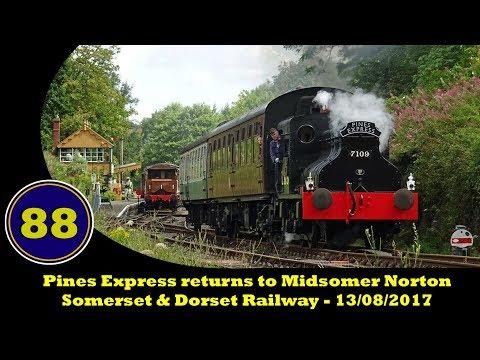 Sentinel No. 7109 'Joyce at Midsomer Norton - Somerset & Dorset Railway - 13/08/2017