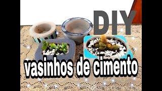 DIY vasinhos de cimento