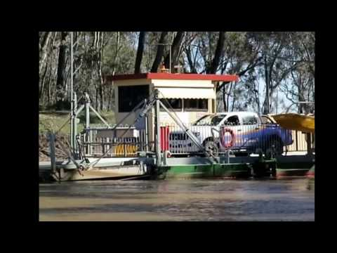 Cable Ferry on Murray River near Speewa
