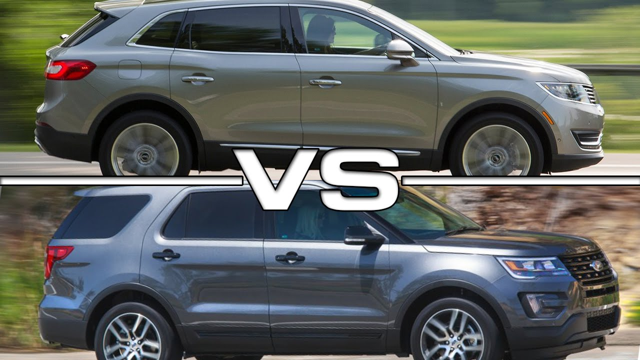 Edge Vs Explorer >> 2016 Lincoln Mkx Vs 2016 Ford Explorer