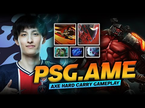 Dota 2 Axe Carry Gameplay Patch 7.29D by PSG.LGD.Ame (萧瑟) - Crazy Strat! Axe Hard Carry!?
