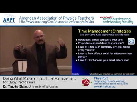 The Busy Professor: Time Management for College Professors