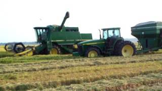 3 CTS combines during rice harvest in dewitt arkansas
