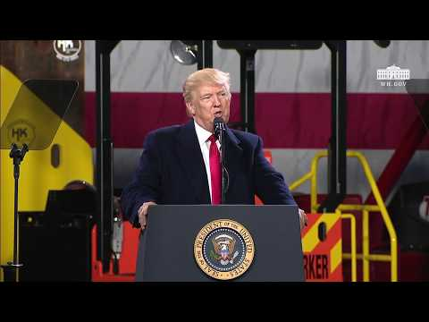 President Trump Gives Remarks at H&K Equipment Company