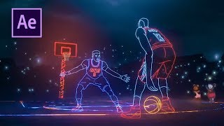 Скачать After Effects Tutorial NBA Lights EASY