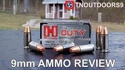 9mm +P 124 gr Hornady Critical Duty Ammo Review (2019)