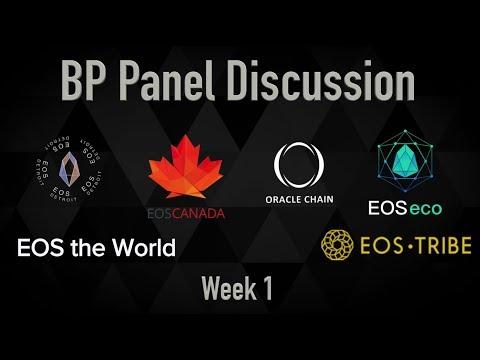 EOS BP Panel Discussion #1 - from Episode 10 on EOSRad.io #blockchain #crypto