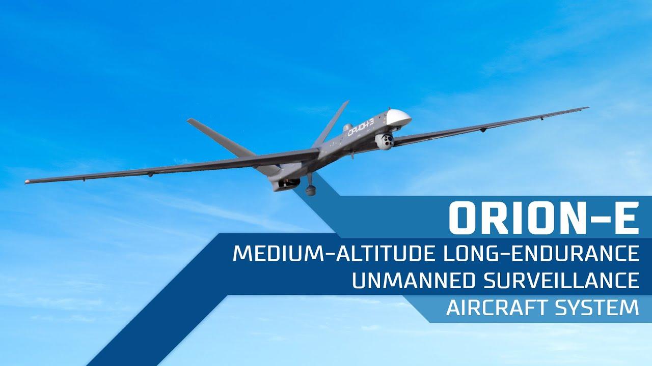 Orion-E medium-altitude long-endurance unmanned surveillance aircraft system - YouTube
