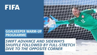 Swift advance and sideways shuffle followed by full-stretch dive [Goalkeeper Warm-Up Programme]
