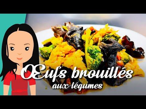 recette-30-:-Œufs-brouillés-aux-légumes-|-brocoli,-tomate-|-recettes-cuisines-chinoises-faciles