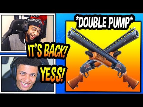 STREAMERS REACT TO 'DOUBLE PUMP' *BACK* IN FORTNITE! (OVERPOWERED) Fortnite FUNNY & EPIC Moments