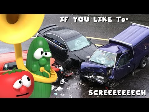 I Put the VeggieTales Theme Song Over Car Accidents thumbnail