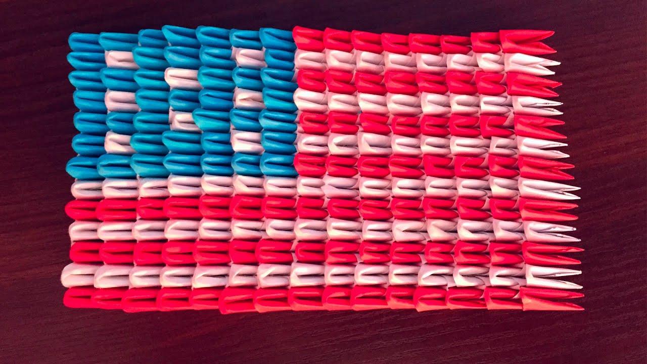 3d origami usa flag tutorial youtube