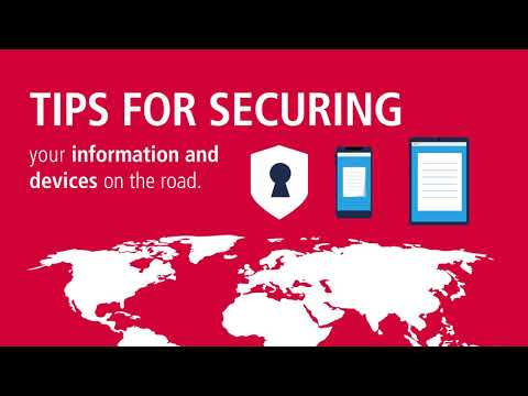 Securing information and devices when traveling