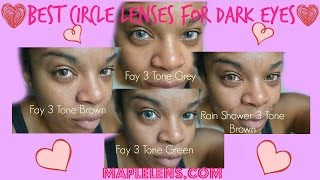 Best Circle Lenses for Dark Eyes