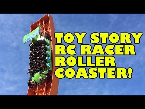 RC Racer Roller Coaster POV Hong Kong Disneyland Toy Story Land
