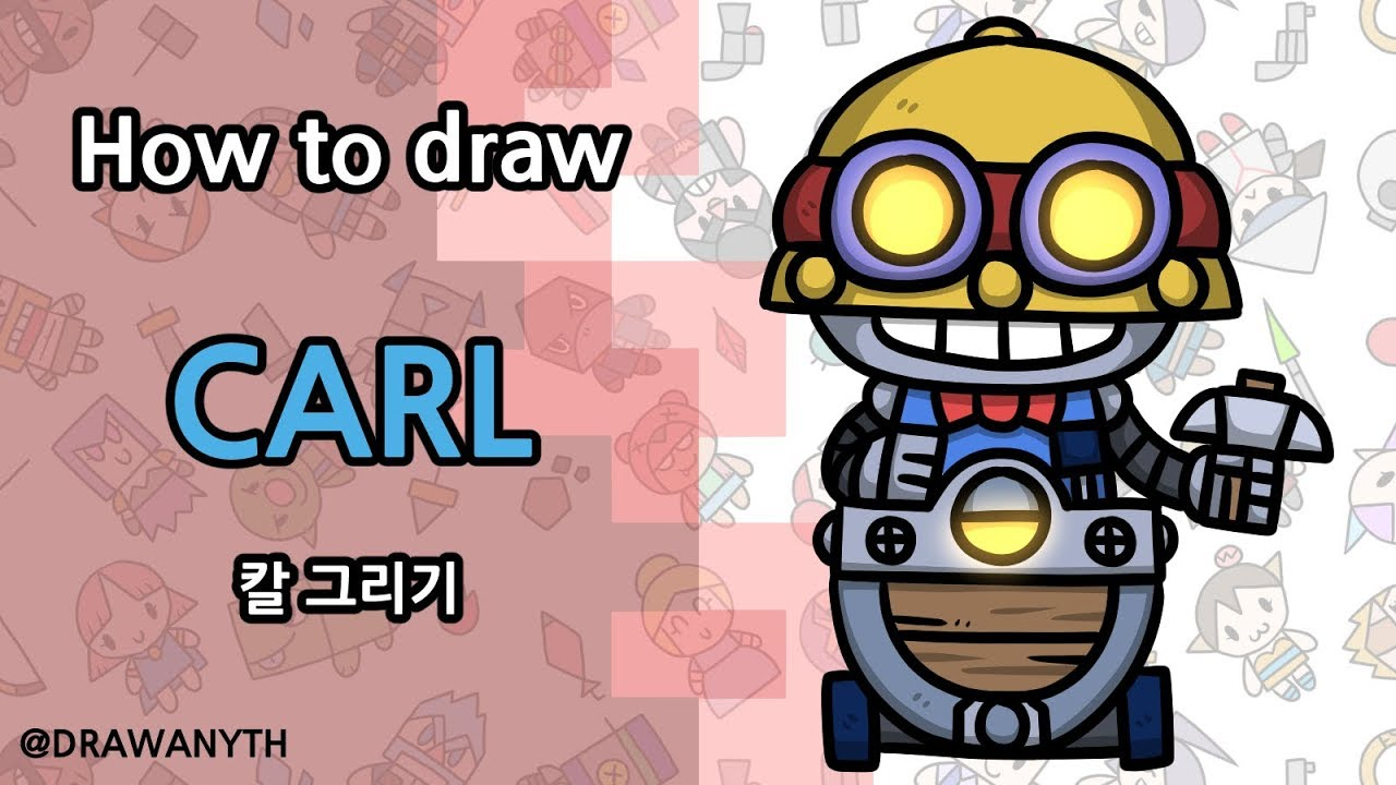 How to draw Carl   Brawl stars - YouTube