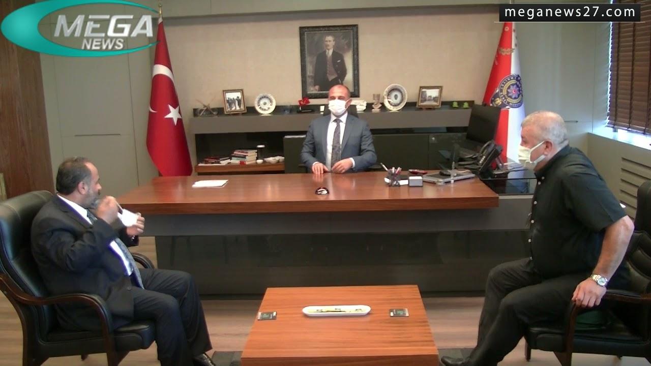 زيارة تهنئة لمدير الأمن الجديد في غازي عنتاب Mustafa Emre Başbuğ من قبل السيد Arif KURT