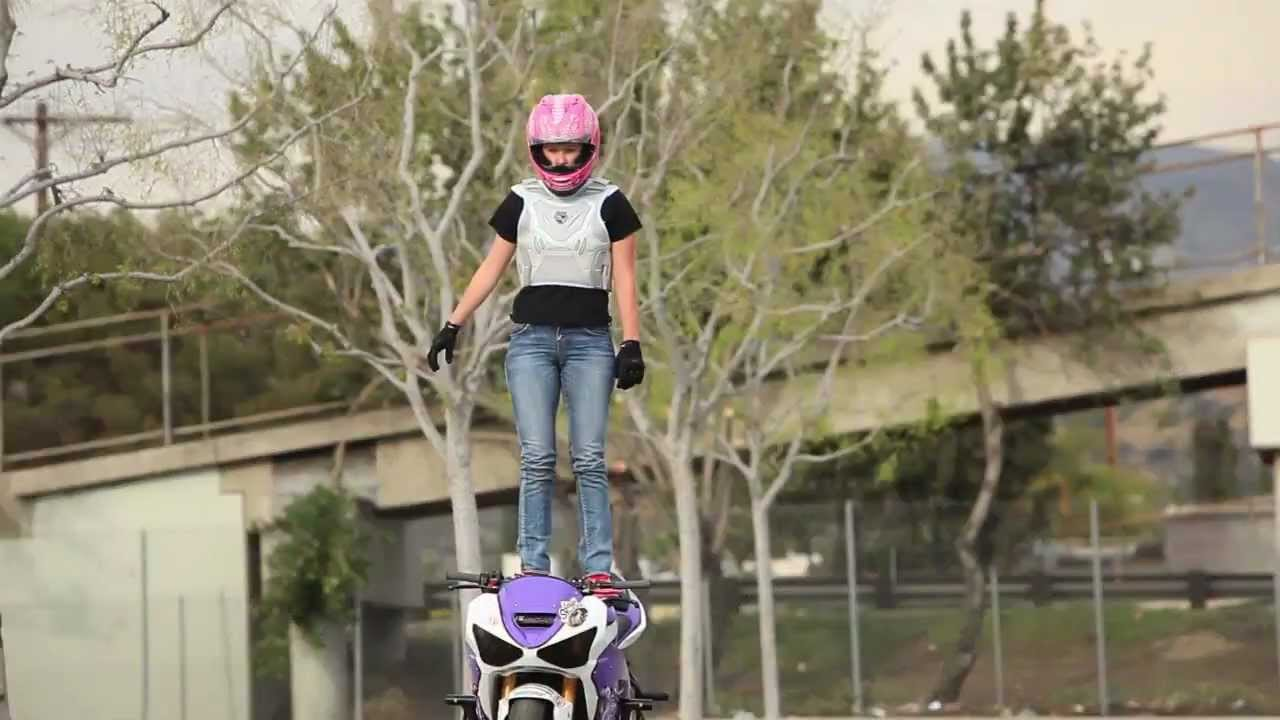 How To Stand On Your Motorcycle Gas Tank Christ Air Stunt