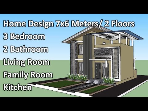 Download Special Home Design, Size 7x6 Meter by 3 Bedroom 2 Floors