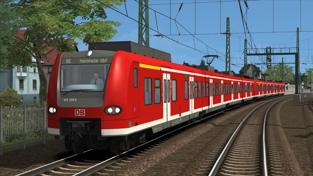 let s play train simulator 2016 10 mit der br 425 nach mannheim hbf youtube. Black Bedroom Furniture Sets. Home Design Ideas