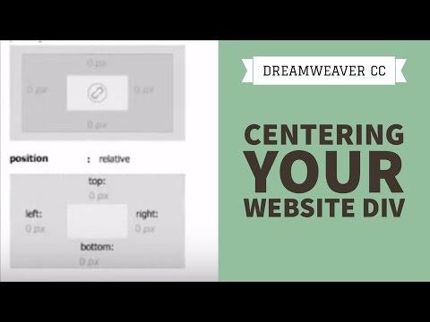 Centering Your Website Div In Dreamweaver CC [24/34]